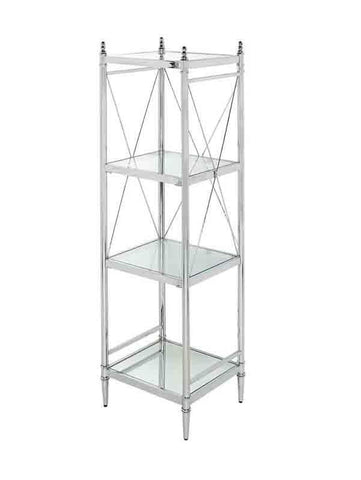 Bayden Hill BA004CHR01 Pinnacle Chrome And Glass Four Tier Shelf