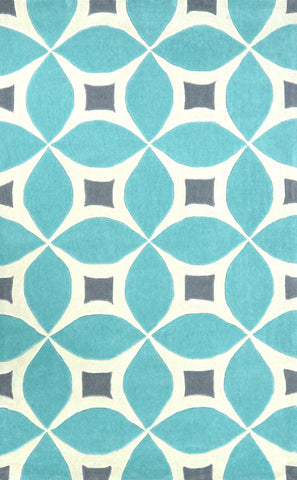 Nuloom BHBC55D-406 Cine Collection Baby Blue Finish Hand Tufted Gabriela Area Rug - Peazz Furniture