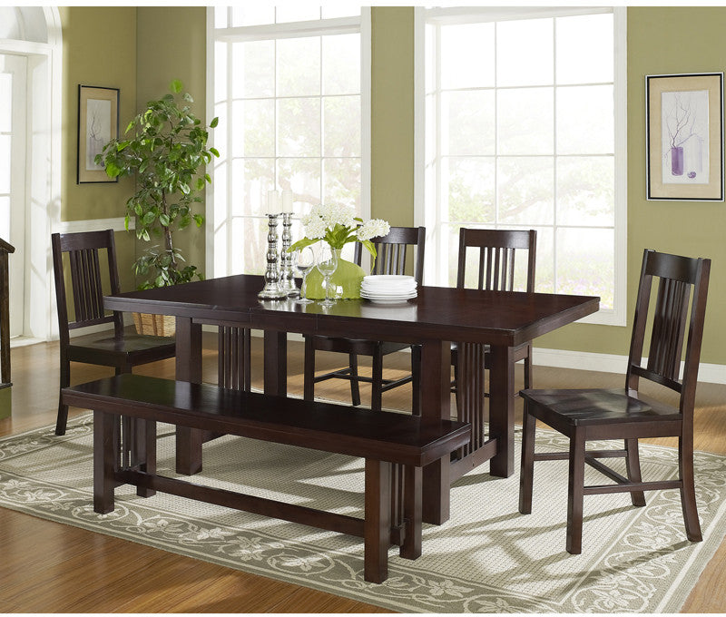 Walker Edison C60m2cno 6-piece Cappuccino Dining Set ship...