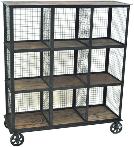 Crestview Collection CVFZR1004 Industria Metal And Wood Bookcase 37 X 13.5 X 41.5 - Peazz Furniture