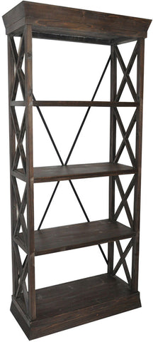 Crestview Collection CVFZR1051 Grand Junction Bookcase 33.25 X 14.5 X 76.25 - Peazz Furniture