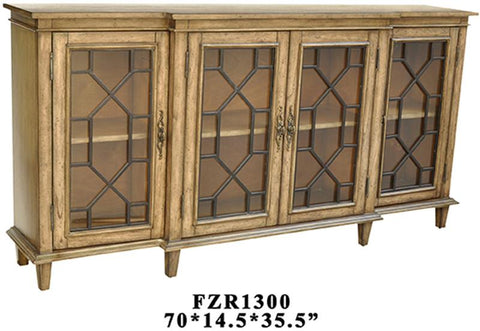 Bayden Hill CVFZR1300 Berkshire 4 Door Sideboard 70 X 14.5 X 35 - Peazz.com