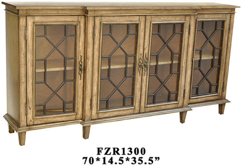 Crestview Collection CVFZR1300 Berkshire 4 Door Sideboard 70 X 14.5 X 35 - Peazz Furniture