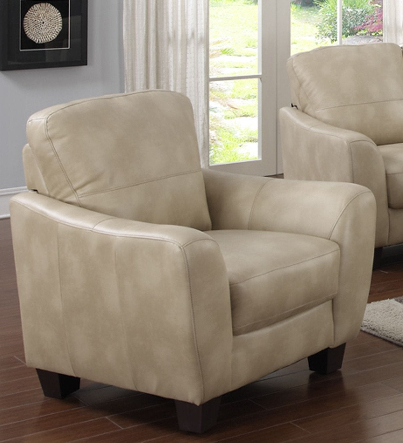 Chintaly Fremont-chr-tpe Club Bonded Leather Chair