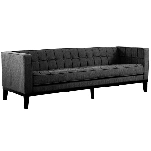 Armen Living LC10103CH Roxbury Sofa In Charcoal Fabric