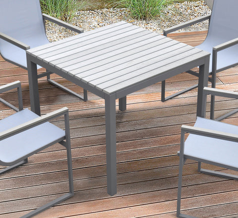 Armen Living LCBIDIGR Bistro Outdoor Patio Dining Table