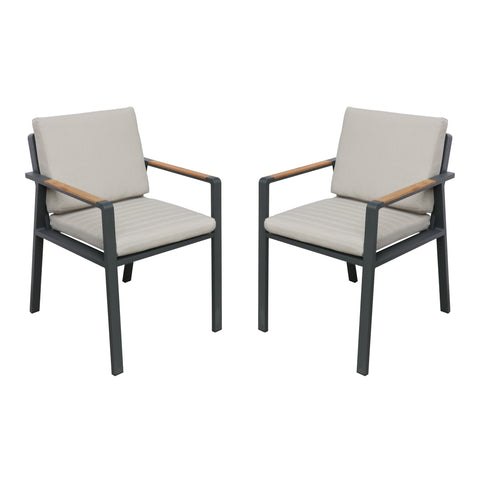 Armen Living LCNOCHBE Nofi Outdoor Patio Dining Chair  - Set of 2