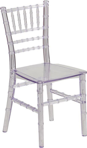 Flash Furniture LE-L-7K-CL-GG Kids Crystal Transparent Chiavari Chair - Peazz Furniture