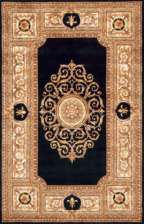 Chinese Hand Tufted Maison Collection Black Rugs - Momeni Collection Image