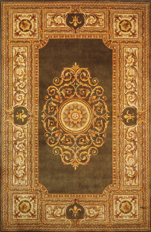 Hand Tufted Maison Collection Green Rugs Chinese 2617 Product Photo