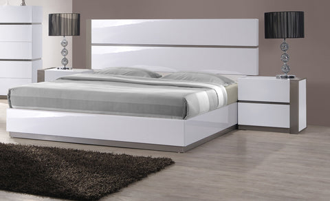 Chintaly MANILA-BED-QN-FBSR Queen Bed Footboard & Side Rails