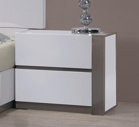 Chintaly MANILA-NS-L Left 2 Drawer Night Stand