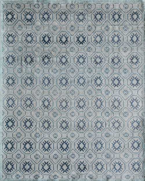 Indian Hand Knotted Nova Collection Blue Rugs 263 Product Photo