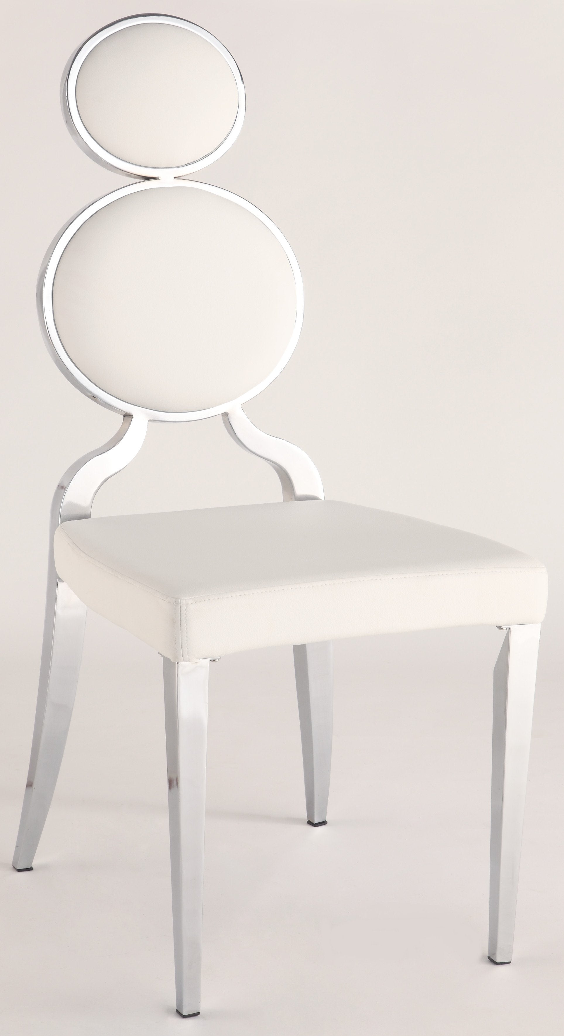 Chintaly Oprah-sc-wht Double Ring Back Side Chair ( Set O...