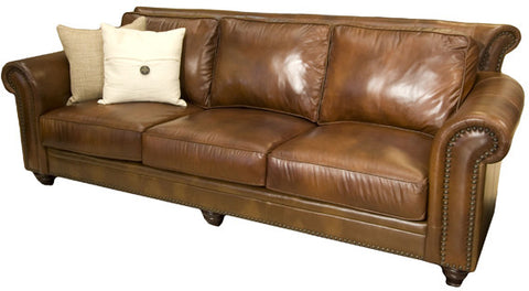 Element Home Furnishing PAL-S-RUST-1-NH025 Paladia Top Grain Leather Sofa in Rustic - Peazz Furniture