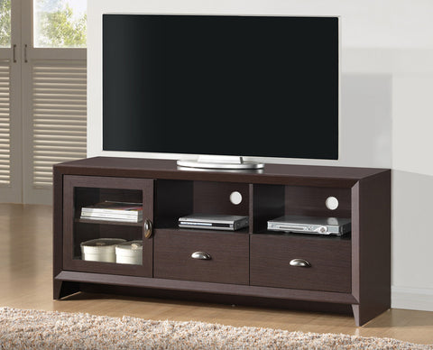 "Techni Mobili RTA-8807-WN Modern TV Stand with Stotage for TVs Up To 65"". Color: Wengue - Peazz Furniture - 1"