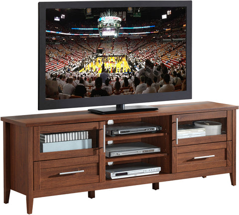 "Techni Mobili RTA-8818-OAK Modern TV Stand with Storage For TVs Up To 75"". Color: Oak - Peazz Furniture - 1"