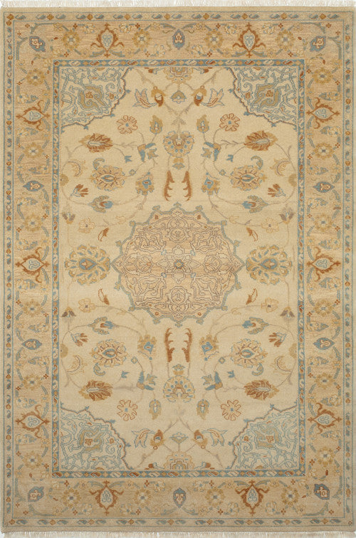 Indian Hand Knotted Shalimar Collection Beige Runner 3335 Product Photo