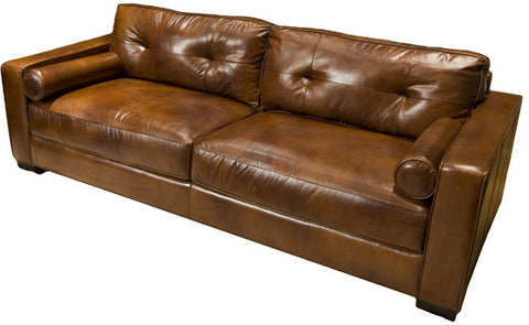 Element Home Furnishing SOH-S-RUST-1 Soho Top Grain Leather Sofa in Rustic - Peazz Furniture