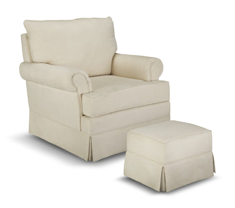 Thomasville Kids 06562-311 Grand Royale Upholstered Glider/Ottoman-Beige - Peazz Furniture