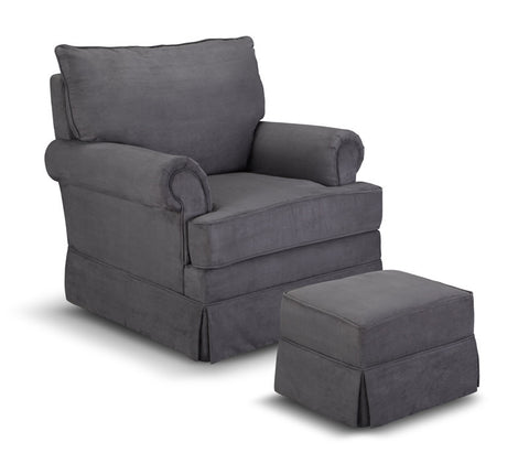 Thomasville Kids 06562-318 Grand Royale Upholstered Glider/Ottoman-Grey - Peazz Furniture