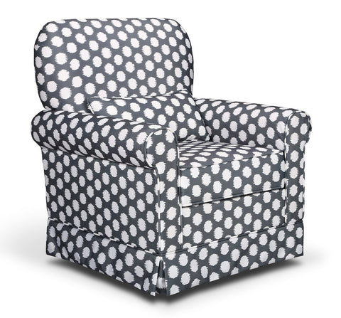 Storkcraft 06562-41F Storkcraft Polka Dot Upholstered Glider-Gray/White - Peazz Furniture