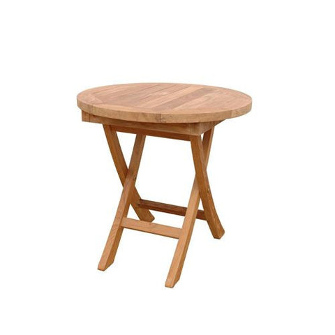 "Anderson Teak TBF-020R Bahama 20"" Mini Side Round Folding Table - Peazz Furniture"