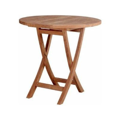 "Anderson Teak TBF-027R Bahama 27"" Round Bistro Folding Table - Peazz Furniture"