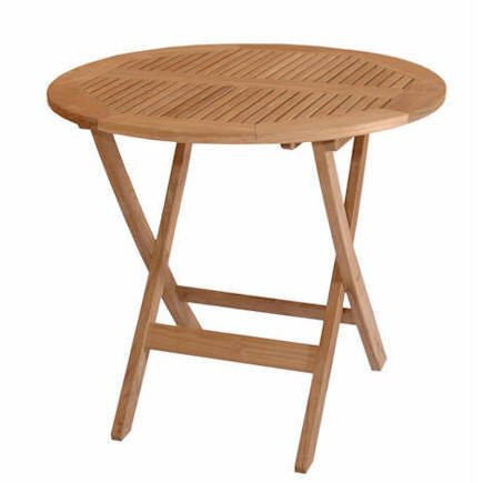 "Anderson Teak TBF-031R Windsor 31"" Round Picnic Folding Table - Peazz Furniture"