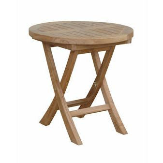 "Anderson Teak TBF-5080R Montage 20"" Round Folding Table - Peazz Furniture"