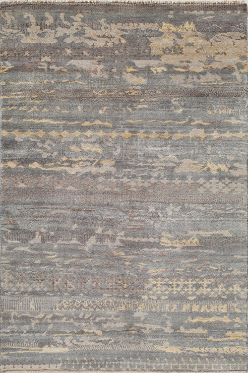 Hand Made Terra Collection Grey Rugs 14277 Product Photo