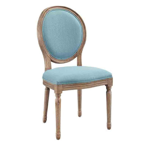 Bayden Hill W03491B Cannes Blue Round Back Dining Chair Set Of Two