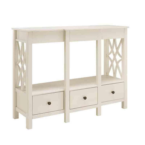 Bayden Hill WM127WHT01U Whitley Antique White Tv Stand