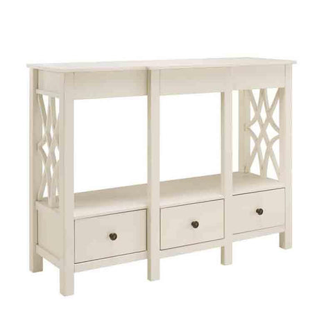 Linon WM127WHT01U Whitley Antique White Tv Stand