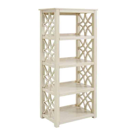 Linon WM131WHT01U Whitley Antique White Bookcase