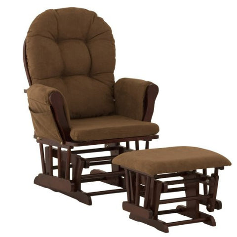 Storkcraft 06550-694 Hoop Glider/Ottoman-Cherry W/Chocolate - Peazz Furniture