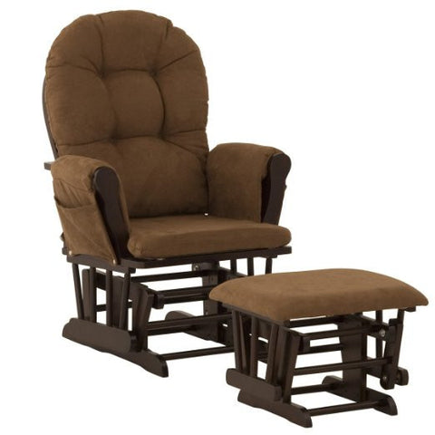 Storkcraft 06550-699 Hoop Glider/Ottoman-Espresso W/Chocolate - Peazz Furniture