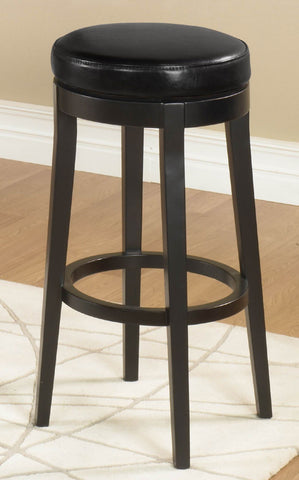 "Mbs-450 30"" Backless Swivel Barstool/ Black by Armen Living - Peazz Furniture"
