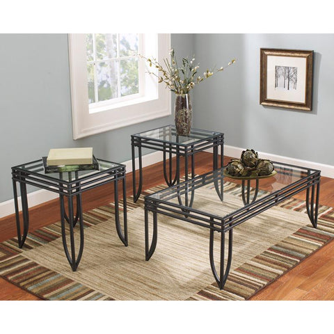 Flash Furniture FSD-TS3-52BB-GG Signature Design by Ashley Exeter 3 Piece Occasional Table Set - Peazz Furniture