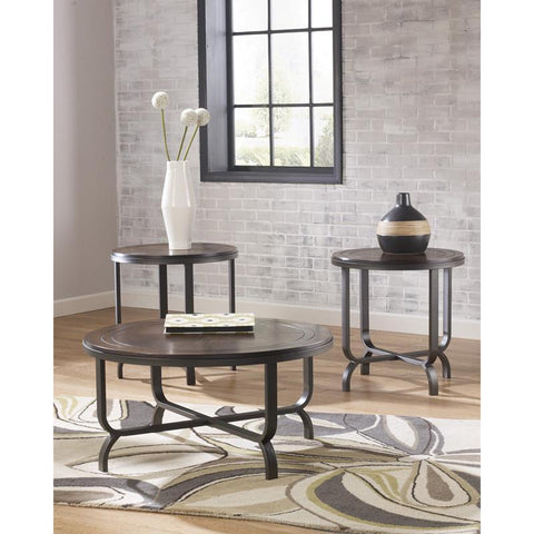 Flash Furniture FSD-TS3-65DB-GG Signature Design by Ashley Ferlin 3 Piece Occasional Table Set - Peazz Furniture