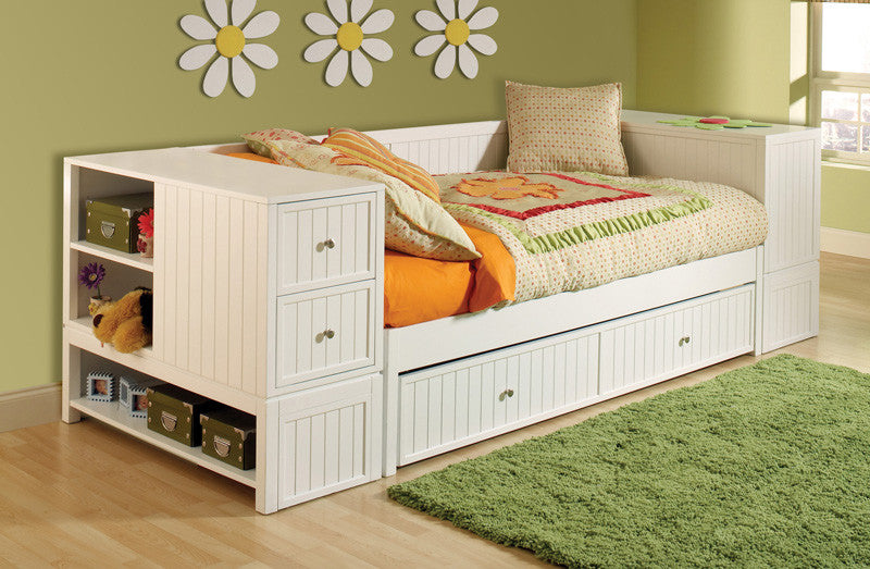 Hillsdale 1604DBTU Cody 4-Piece Daybed Set w/Daybed, Trundle, End Chest, and End Bookcase Chest