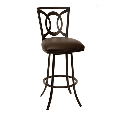 "Armen Living LCDR30BABR Drake 30"" Transitional Barstool In Coffee  and Auburn Bay - Peazz Furniture"