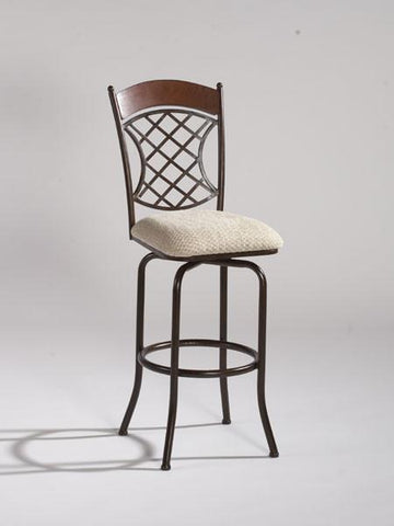 Chintaly 0782-BS Memory Return Swivel Bar Stool - BarstoolDirect.com