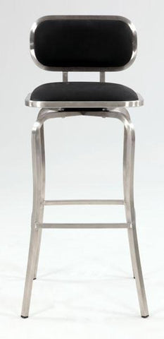 Chintaly 1192-BS-BLK Modern Swivel Bar Stool - BarstoolDirect.com