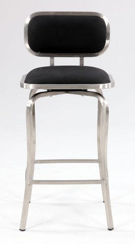 Chintaly 1192-CS-BLK Modern Swivel Counter Stool - BarstoolDirect.com