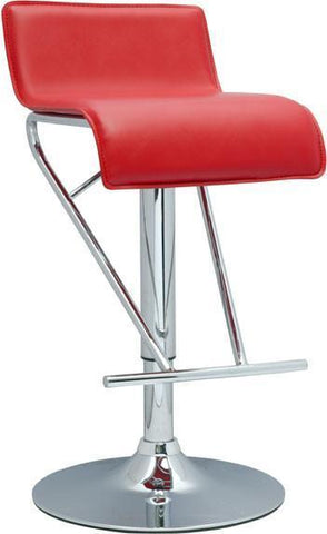 "Chintaly 6122-AS-RED Pneumatic Gas Lift Adjustable Height Swivel Stool - 21"" - 31"" - BarstoolDirect.com"