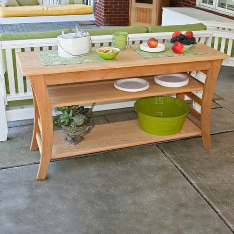 "Creekwine Design ELY4820CVD 48"" Cedar Entertaining Buffet Table - Peazz Furniture"