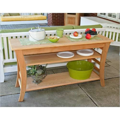 "Creekwine Design ELY5820CVD 58"" Cedar Entertaining Buffet Table - Peazz Furniture"