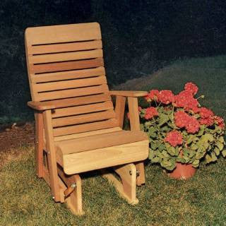 Creekwine Design WF1230-2CVD 2' Cedar Twin Ponds Rocking Glider - Peazz Furniture