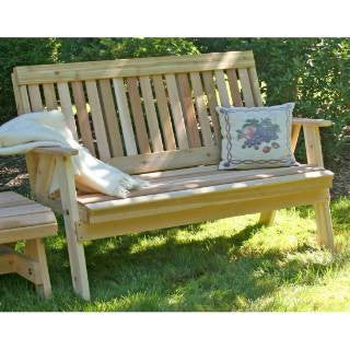 Creekwine Design WF2EGBCVD 2' Cedar Countryside Garden Bench - Peazz Furniture